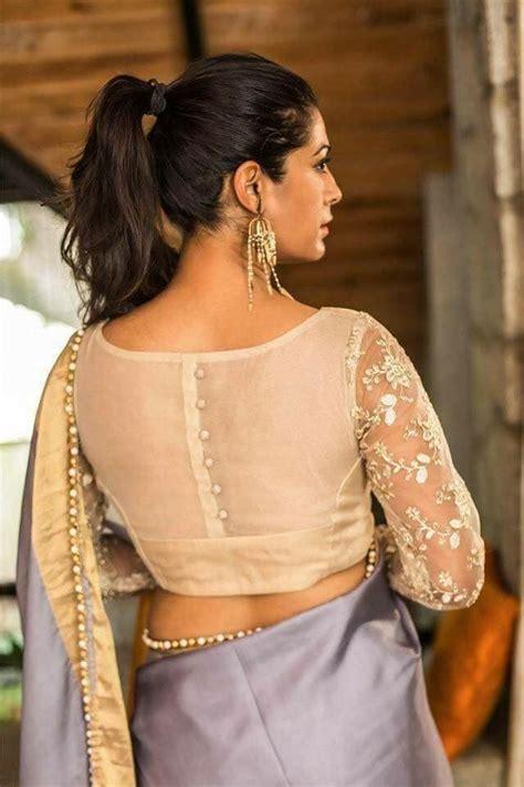 pin  shaik asma  weddings netted blouse designs