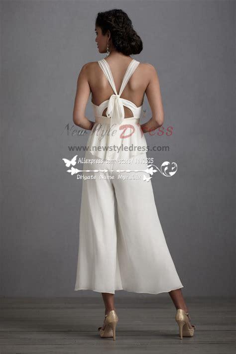wedding dresses culottes jumpsuit tea length pants wps
