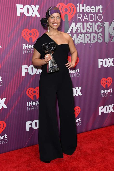 Alicia Keys attends the 2019 iHeartRadio Music Awards at ...
