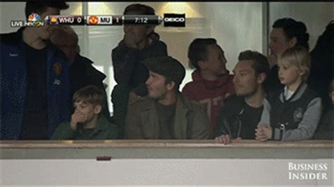 GIF: David Beckham Was Impressed By Wayne Rooney's ...