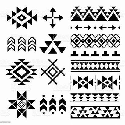 Aztec Tribal Navajo Pattern Elements Vector American