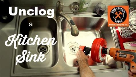 unclogging kitchen sink drain how to unclog a kitchen sink home repair tutor 6496