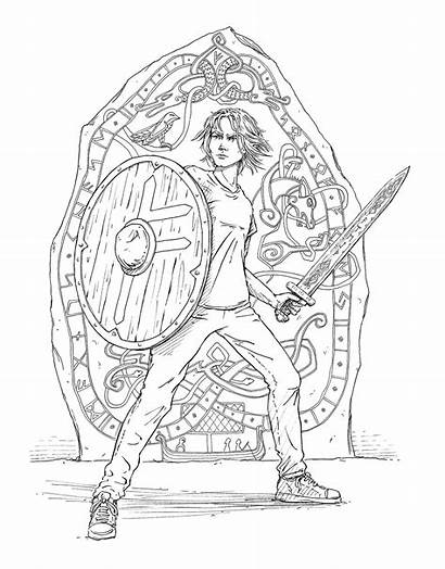 Magnus Chase Coloring Keith