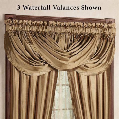 Hang Waterfall Valance Curtains by Versailles Waterfall Valance 52 X 36 Touch Of Class