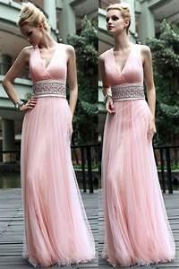 robe soiree rose plissee en tulle col v avec ceinture bijoux With robe habillée pour mariage avec bijouterie mariage