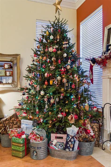 oh christmas tree galvanized bucket display home spun