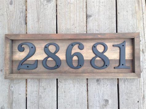 custom rustic house address numbers plaque set