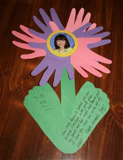 preschool crafts  kids top  mothers day flower