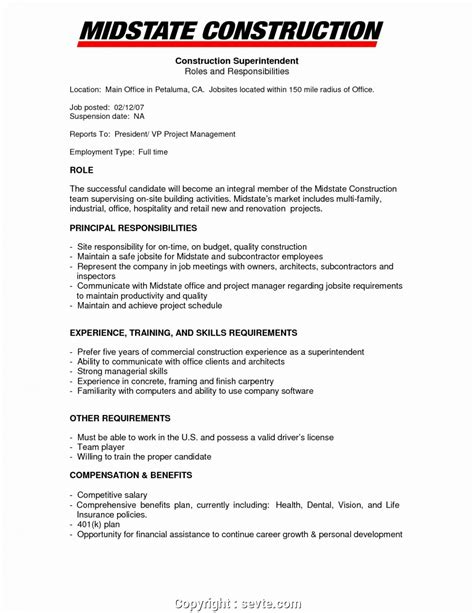Construction Manager Resume Exles by Construction Office Manager Resume Bijeefopijburg Nl