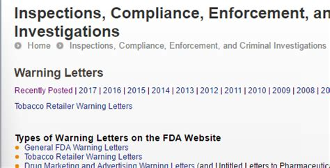 fda warning letters fda warning letters this week 2 22 17 fur farm and fork