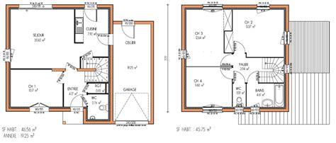 plan maison à étage 4 chambres plan maison etage 4 chambres gratuit kirafes