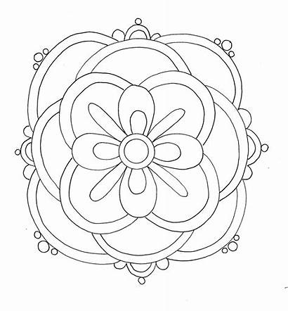 Coloring Rangoli Pages Diwali Printable Designs Pattern