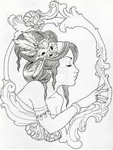 Tattoos Gypsy Tattoo Coloring Frame Deviantart Adult Colouring Filigree Desenhos Colorir Framed Adultos Drawings Trissa Idea Pintura Pintar Colorare Fantasy sketch template