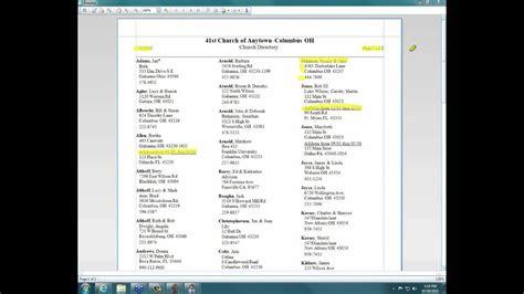 church windows software  membership directory youtube