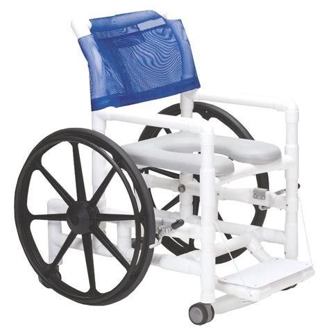 Pvc Commode Chair by Columbia Pvc Self Propelled Shower And Commode Chair