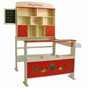 Kaufladen Selber Bauen : kinderkaufladen kaufladen aus holz mit theke und regal ~ Michelbontemps.com Haus und Dekorationen