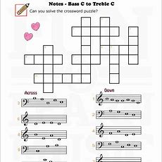 Fun And Learn Music » Music Worksheets  Bass C To Treble C
