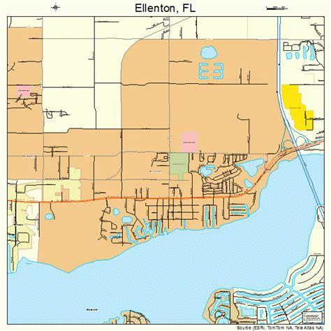 Florida Map Ellenton FL