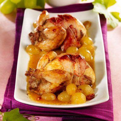 cuisiner les cailles cailles en cocotte au raisin et au cognac recette