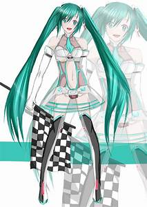 Miku Hatsune -Racing outfit 2012 by TacToki on DeviantArt