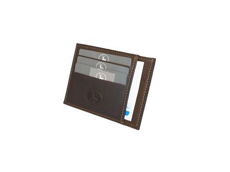 porte carte de bureau porte carte compact en cuir marron pour homme 575 porte