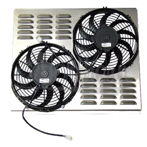 dual electric fans with shroud northern factory dual 11 electric fan shroud 18 1 8