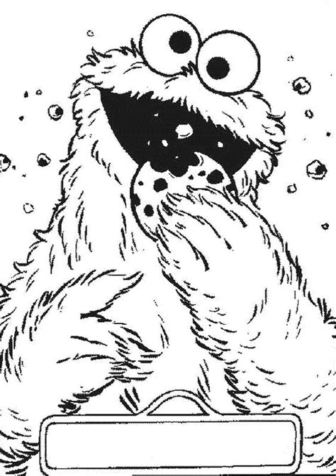 Cookie Monster Bite Coloring Pages 2nd birthday