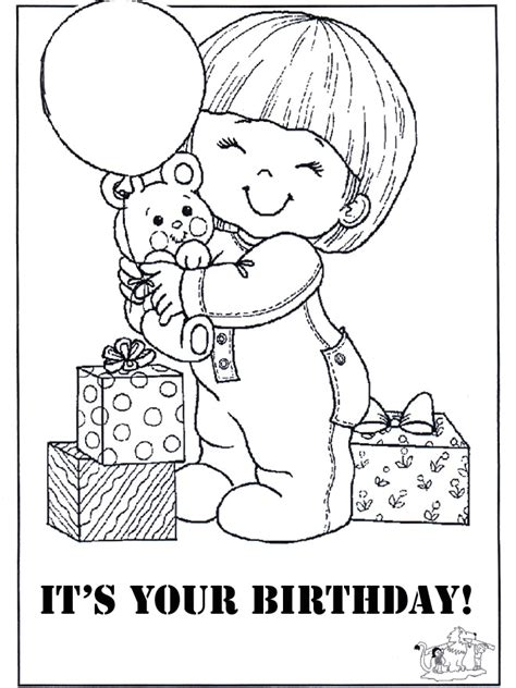 Printable Coloring Pages Birthday Cards