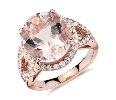 Morganite And Diamond Ring In 18k Rose Gold (13x11mm. Northeastern University Rings. 10 Mm Wedding Rings. Gaelic Wedding Rings. Unt Rings. Newborn Photography Wedding Rings. 15 Year Rings. Diamond Around Engagement Rings. Wave Shaped Engagement Rings