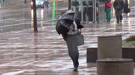 windy weather  umbrellas  cleveland youtube