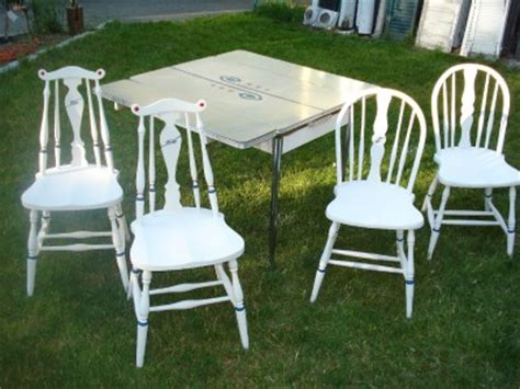 kitchen table chairs white formica 1940s chrome leg ebay