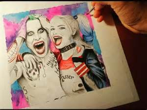 Suicide Squad Harley Quinn and Joker Drawing