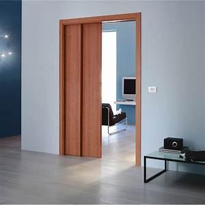 Porte A Galandage Double : kit habillage pour porte coulissante galandage en bois ~ Premium-room.com Idées de Décoration