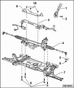 Volkswagen Workshop Manuals  U0026gt  Golf Mk5  U0026gt  Running Gear  Axles  Steering  U0026gt  Steering
