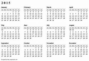 free printable calendars and planners 2018 2019 2020 With 2015 yearly calendar template in landscape format