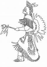 Coloring Indian Native Coloringpages1001 Americans sketch template
