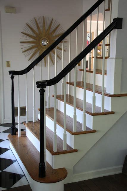 banister top 17 best ideas about painted stair railings on