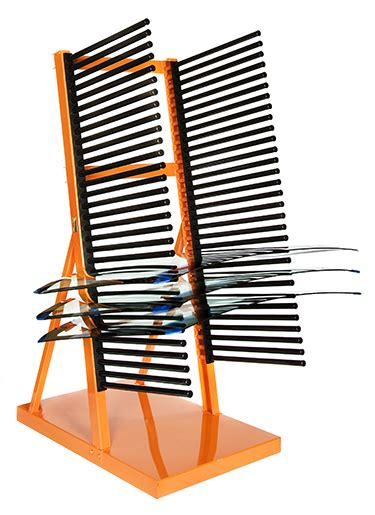 Glass Rack For Shop by Freestanding Windshield Storage Rack For Shops Burco Inc