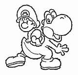 Coloring Yarn Mario Bros Colorear Dibujos Getdrawings Oh Sc sketch template