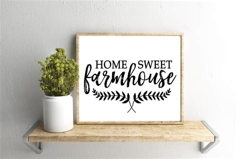 home sweet home decor printable wall home sweet farmhouse quote home decor