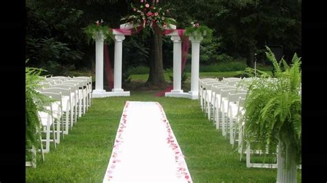Outdoor Wedding Decorations by Outdoor Wedding Ceremony Decoration Ideas On A Budget