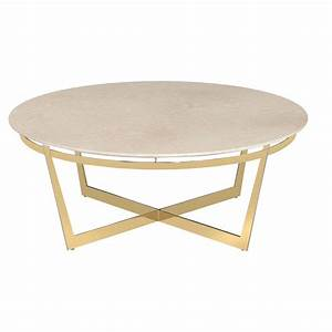 alexys cream marble round gold coffee table kathy kuo home With cream and gold coffee table