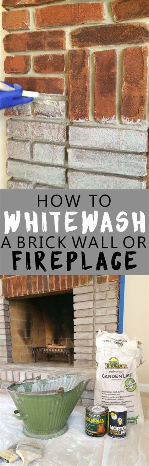 37 best whitewashed images on best 25 painting brick fireplaces ideas on