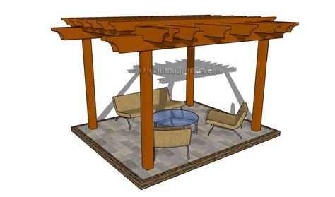 attached pergola plans myoutdoorplans  woodworking