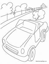 Highway Coloring Mini Cars Sheets Template Sketch Templates sketch template