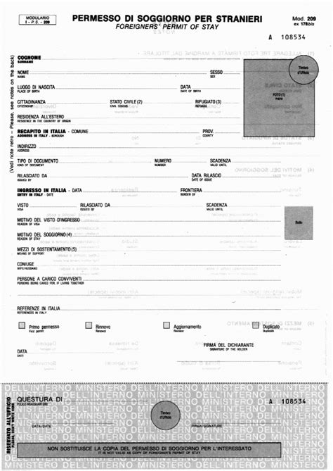 documenti carta soggiorno carta soggiorno illimitata permesso di nuovo il costo