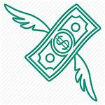 Fly Icon Money Cash Currency Salary Icons