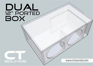CT Sounds Dual 12 Inch Ported Subwoofer Box Design – CT SOUNDS