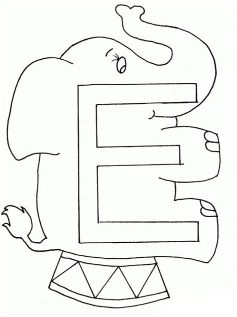 Coloring Letter E by Preschool Learning Letter E Coloring Page Best Place To
