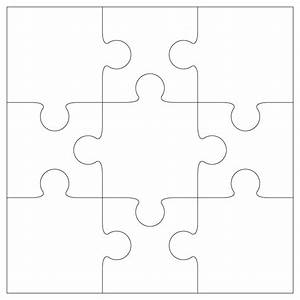 puzzle piece template clipart best With giant puzzle template